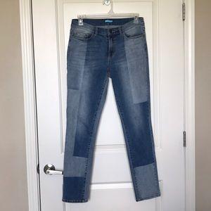 J McLAUGHIN • Patchwork Style Skinny Jeans Sz 10